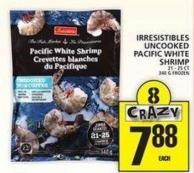 Irresistibles Uncooked Pacific White Shrimp