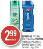 Dippity Do Styling Gel (350ml) or Fructis Hair Care Products