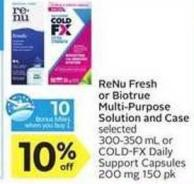 Renu Fresh or Biotrue Multi-purpose Solution and Case - 10 Air Miles Bonus Miles
