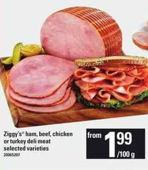 Ziggy's Ham - Beef - Chicken Or Turkey