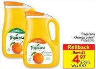 Tropicana Orange Juice 2.63 L
