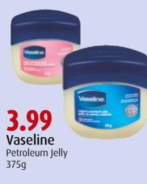 Vaseline Petroleum Jelly 375g