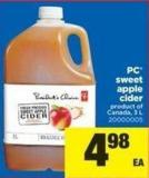 PC Sweet Apple Cider - 3 L