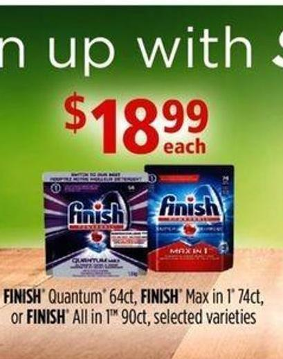 Finish Quantum 64ct - Finish Max In 1 74ct - Or Finish All In 1 90ct