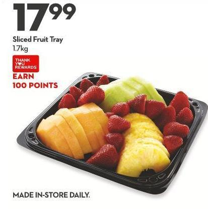 Sliced Fruit Tray 1.7kg