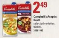 Campbell's Aseptic Broth - 900 Ml