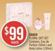 COACH FLORAL GIFT SET Contains: Eau de Parfum (50mL) and Body Lotion (100mL)