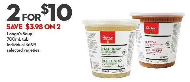 Longo's Soup 700ml Tub
