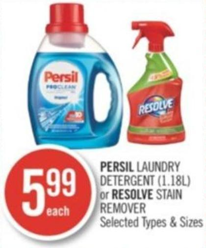 Persil Laundry Detergent (1.18l) or Resolve Stain Remover