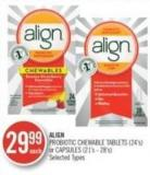 Align Probiotic Chewable Tablets (24's) or Capsules (21's - 28')