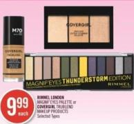 Rimmel London Magnif'eyes Palette or Covergirl Trublend Makeup Products