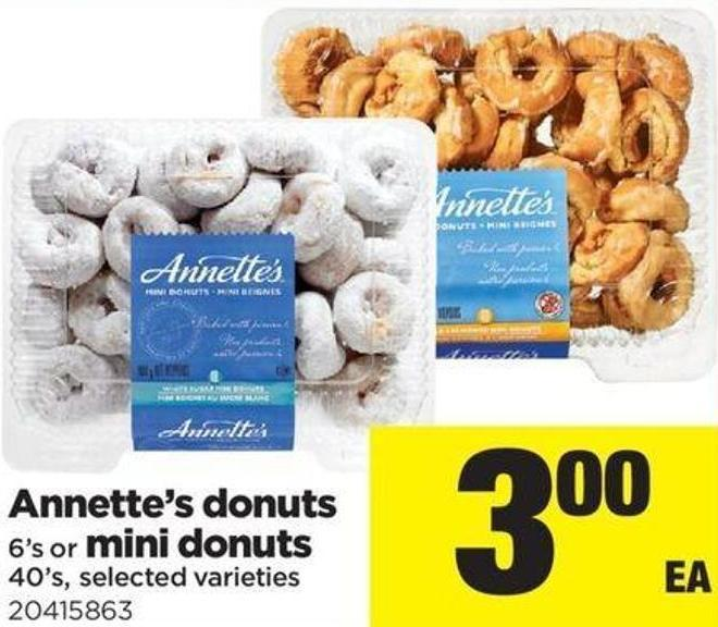 Annette's Donuts 6's Or Mini Donuts 40's