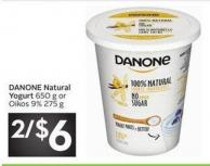 Danone Natural Yogurt 650 g or Oikos 9% 275 g