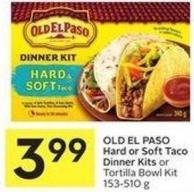 Old El Paso Hard or Soft Taco Dinner Kits or Tortilla Bowl Kit 153-510 g