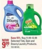 Selected Tide - Gain and Downy Laundry Products