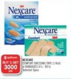 Nexcare Comfort Dressing Tape (1 Roll) or Bandages (4's-80's)