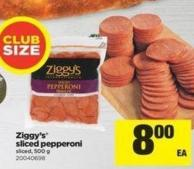 Ziggy's Sliced Pepperoni Sliced - 500 G