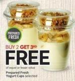 Prepared Fresh Yogurt Cups