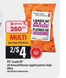PC Loads Of All Dressed Flavour Rippled Potato Chips - 200 g