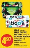 IOGO - 16x100 g - Fruit On The Bottom - 12x95 g or Danone Activia - 12x100 G/8x150 g Yogurt