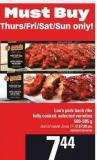 Lou's Pork Back Ribs Fully Cooked - 500-585 g