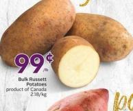 Bulk Russett Potatoes