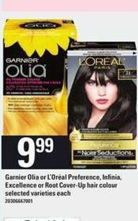 Garnier Olia Or L'oréal Preference - Infinia - Excellence Or Root Cover-up Hair Colour