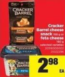 Cracker Barrel Cheese Snack - 168 G Or Feta Cheese - 180 G