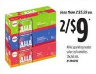 Aha Sparkling Water - 12x355 mL