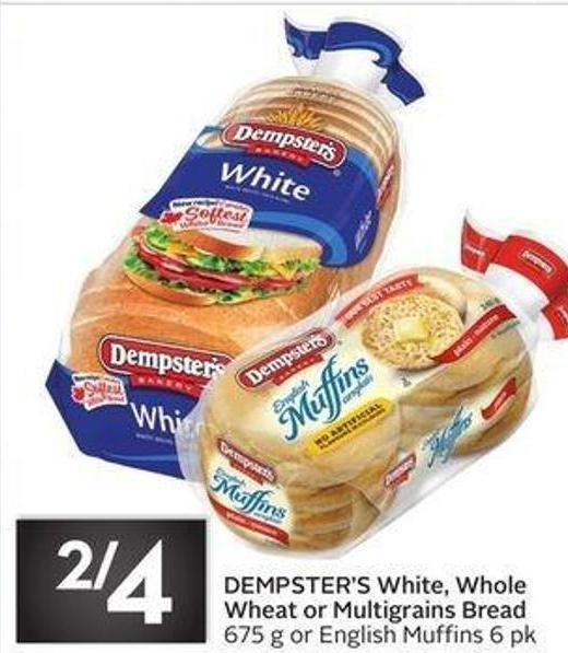 Dempster's White - Whole Wheat or Multigrains Bread