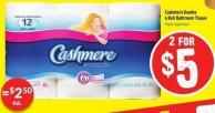 Cashmere Double 6 Roll Bathroom Tissue
