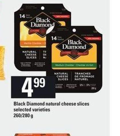 Black Diamond Natural Cheese Slices - 260/280 G