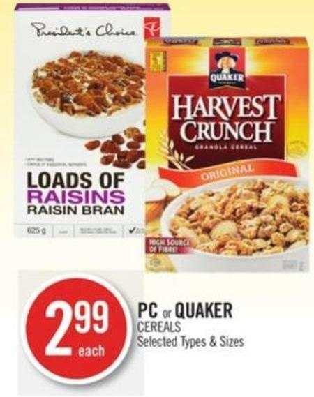 PC or Quaker Cereals