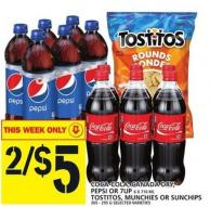 Coca-cola - Canada Dry - Pepsi Or 7up Or Tostitos - Munchies Or Sunchips