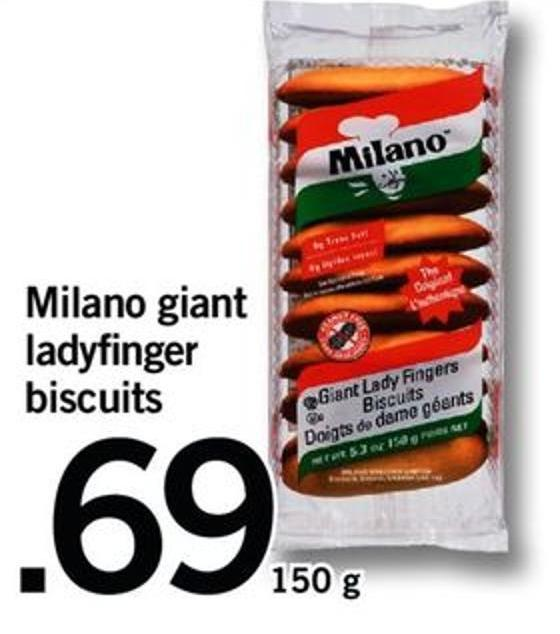 Milano Giant Ladyfinger Biscuits - 105 G