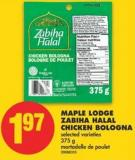 Maple Lodge Zabiha Halal Chicken Bologna - 375 g