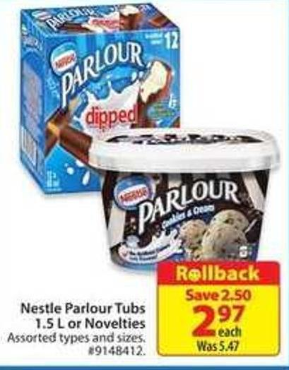Nestle Parlour Tubs 1.5 or Novelties