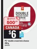 PC Double Cream Brie Cheese - 200 G