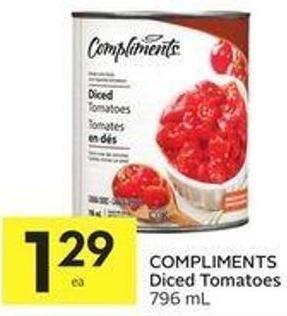 Compliments Diced Tomatoes 796 mL