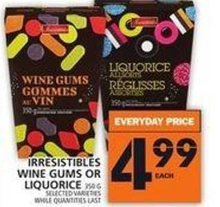 Irresistibles Wine Gums Or Liquorice