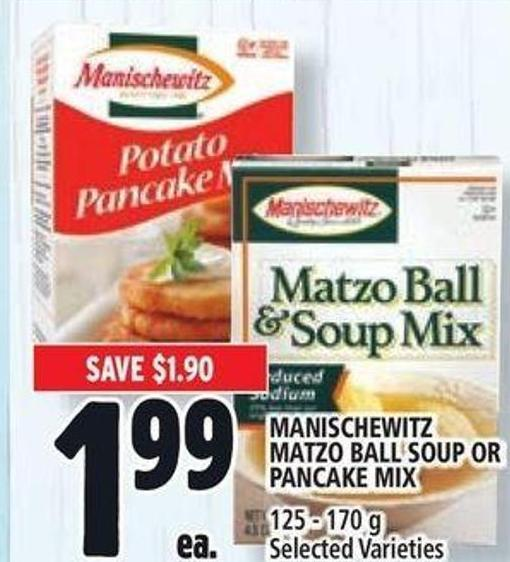 Manischewitz Matzo Ball Soup Or Pancake Mix