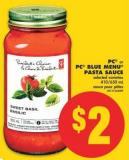 PC Or PC Blue Menu Pasta Sauce - 410/650 mL