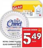 Royal Chinet Plates Or Glad Garbage Bags