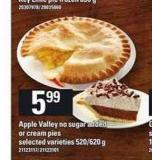 Apple Valley No Sugar Added Or Cream Pies - 520/620 g