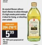 PC 100% Pure Grapeseed Oil - 750 mL