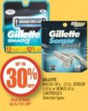 Gillette Mach3 (8's - 12's) - Sensor (10's) or Venus (6's) Cartridges