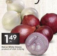 Red or White Onions