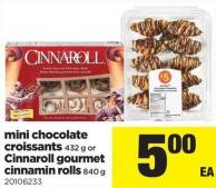 Mini Chocolate Croissants - 432 G Or Cinnaroll Gourmet Cinnamin Rolls - 840 G