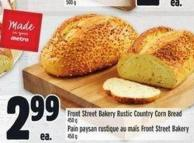 Front Street Bakery Rustic Country Corn Bread