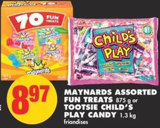 Maynards Assorted Fun Treats - 875 G Or Tootsie Child's Play Candy - 1.3 Kg